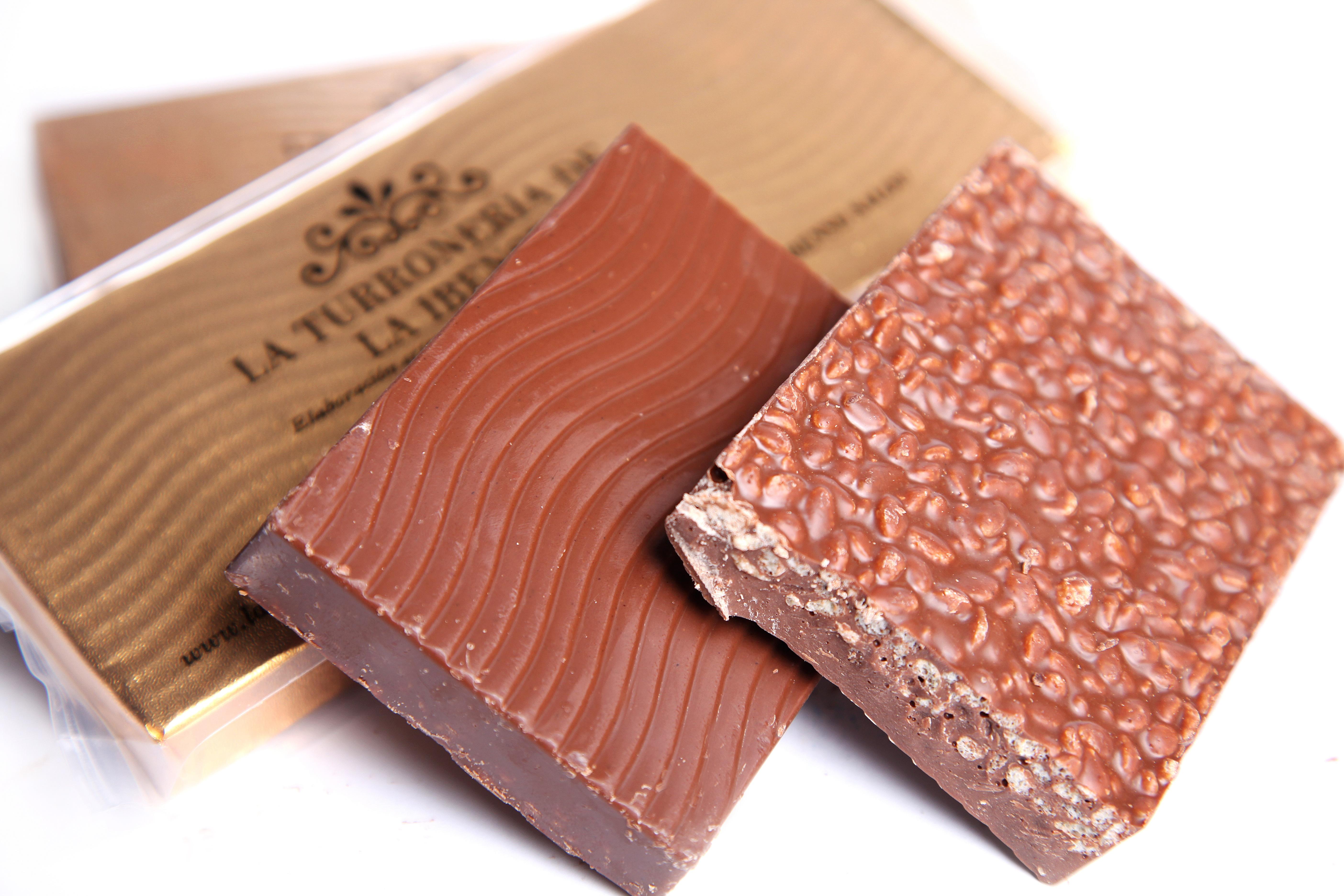 Turrón de Chocolate Crujiente. Barra 300g